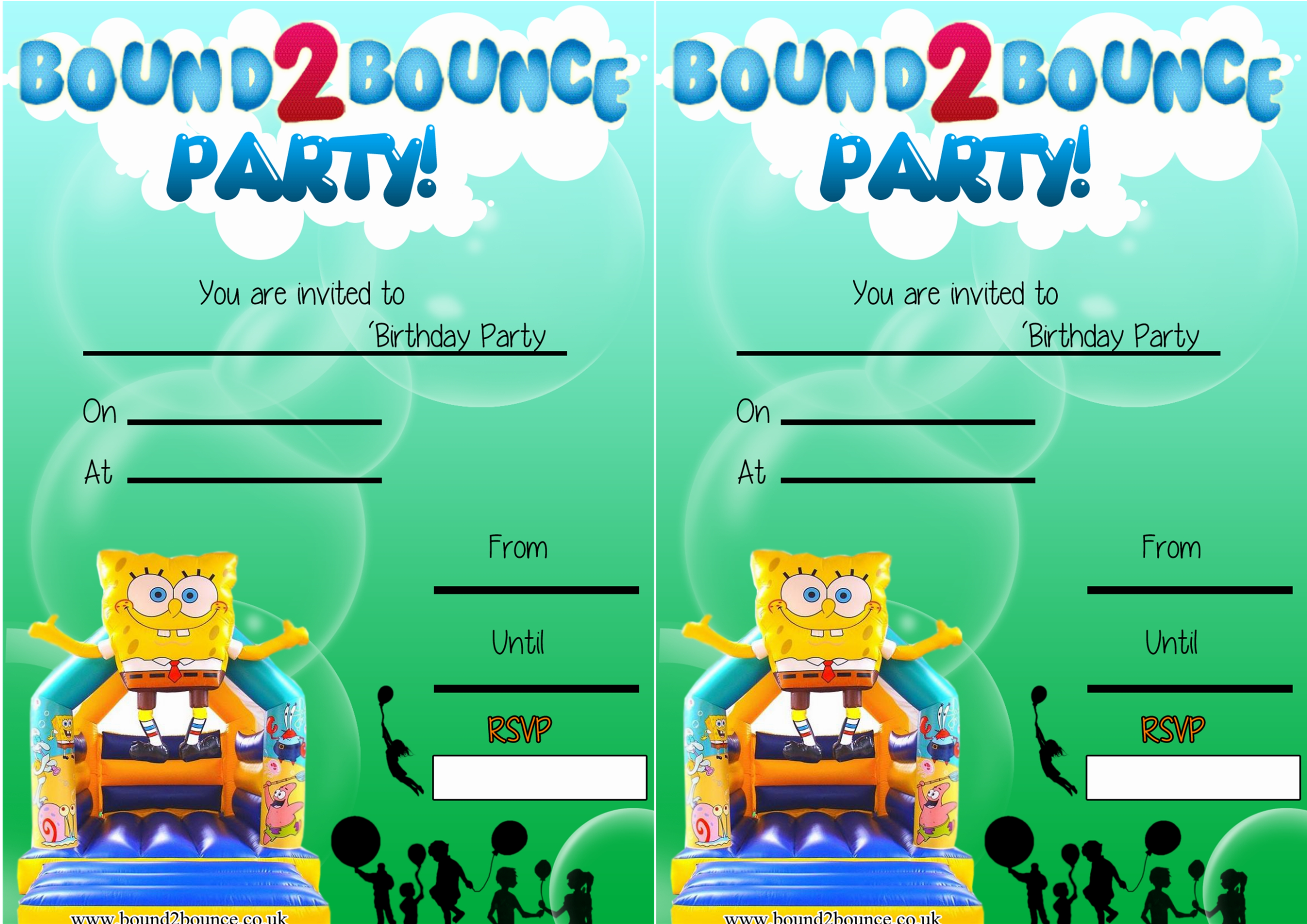 Party Invites – Bouncy Castle Party Invitations